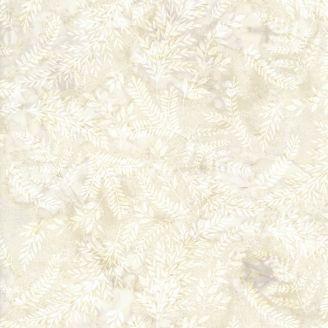 Tissu batik fougères écru marbré