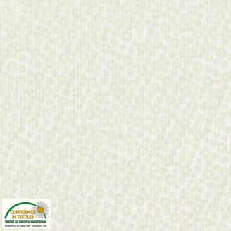Tissu patchwork bulles irisées écrues - Quilters Pearl