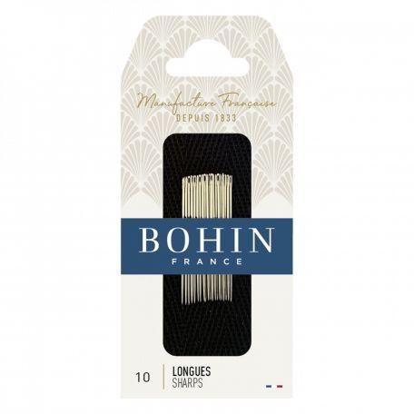 Aiguilles à coudre longues n°10 de Bohin