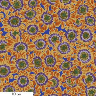 Tissu Philip Jacobs fleur Lucy orange PJ112