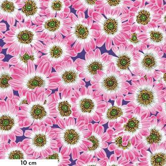 Tissu Philip Jacobs fleur Lucy rose PJ112