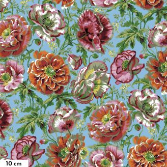 Tissu Philip Jacobs grande fleur Dorothy naturel PJ109