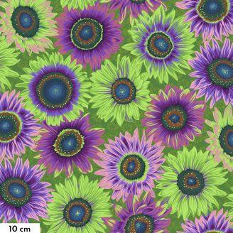 Tissu Philip Jacobs Tournesol Van Gogh vert PJ111
