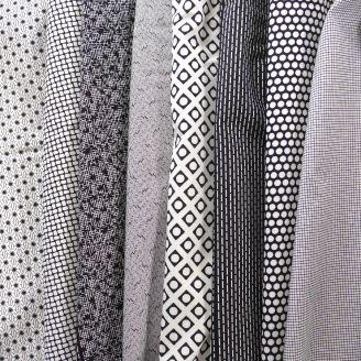Tissu patchwork bandes en noir et blanc - Low Volume Lollies