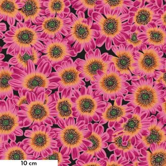 Tissu Philip Jacobs fleur Lucy magenta PJ112