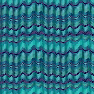 Tissu patchwork rayures moirées bleues - Henna