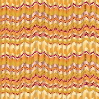 Tissu patchwork rayures moirées jaunes - Henna