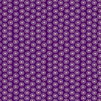 Tissu patchwork éclosions fond violet - Henna