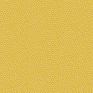Tissu patchwork petites fleurs fond jaune - Henna