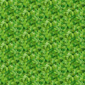 Tissu patchwork feuillage printanier