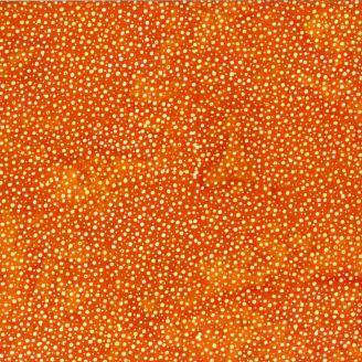 Tissu Batik pétillant orange Summer