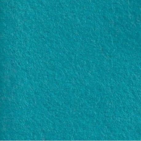 Feutrine de laine turquoise