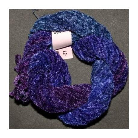 Chenille de soie mauve violet 42