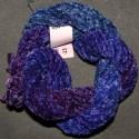 Chenille de soie bleu violet 23