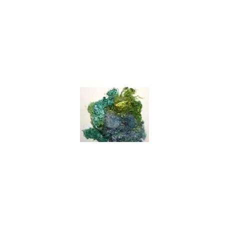 Fibres de soie bleu/vert
