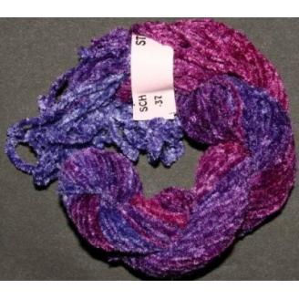 Chenille de soie violet 37