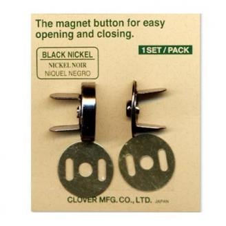 Fermoir magnétique pour Sac de Clover - Nickel noir
