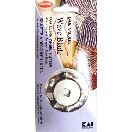 Lame ondulée pour cutter circulaire ultra 45mm Kai.