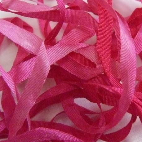 Ruban de soie S.Francis fuschia/rose