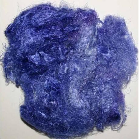 Fibres de soies bleues