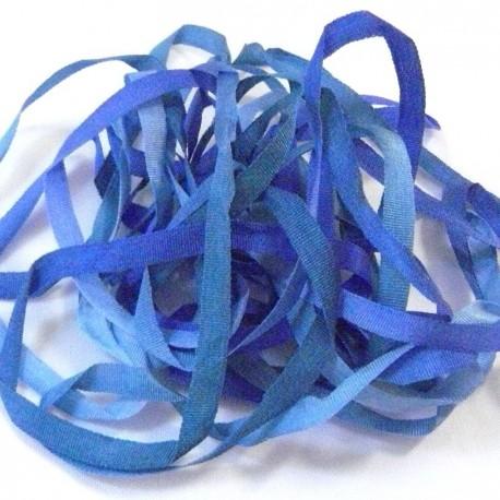 Ruban de soie S.Francis bleu dégradé 4mm