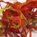 Ruban de soie S.Francis multico rouge/vert/marron 7mm