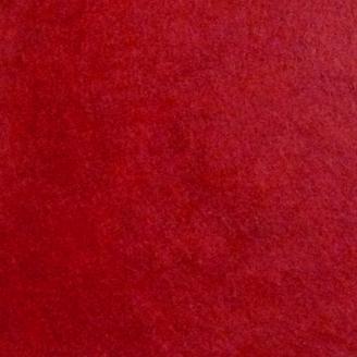 Feutrine de laine rouge chinée