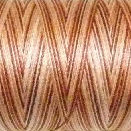 Fil coton Mako 28 dégradé marron saumon 4656
