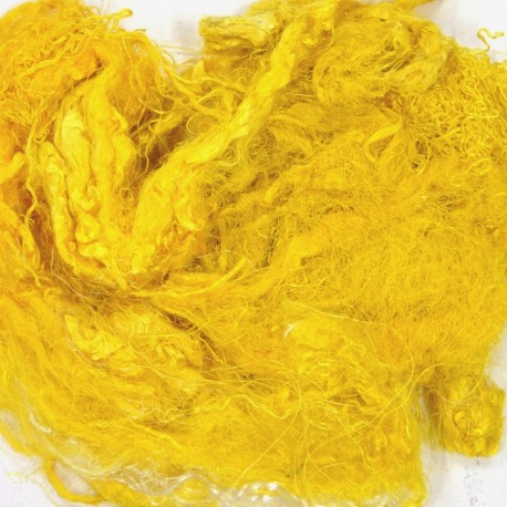 Fibres de soies jaune