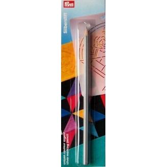 Crayon à marquer gris argent effaçable à l'eau Prym