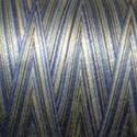 Fil Aurifil Mako 28 blanc jaune bleu dégradé 4649