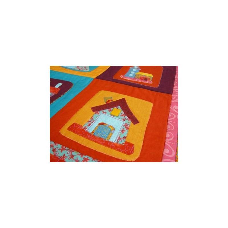 les petites maisons mod le de patchwork gratuit. Black Bedroom Furniture Sets. Home Design Ideas