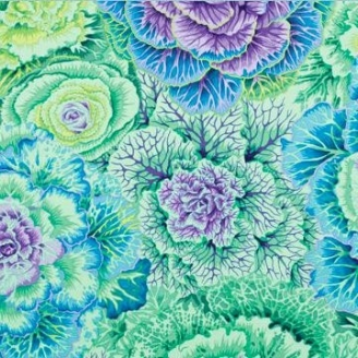 Tissu Philip Jacobs  choux Brassica PJ51 green