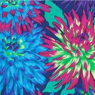 Tissu Philip Jacobs Cactus dahlia PJ54 blue