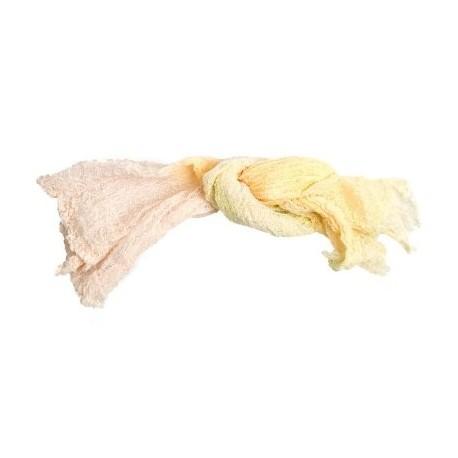 Gaze teinte à la main rose-jaune pâle de Stef Francis