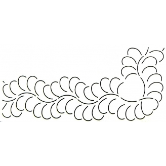 Stencil Plumes 7.6 m (bordure)