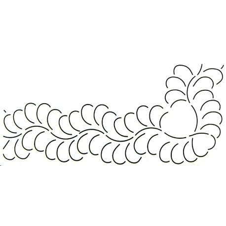 Stencil Plumes (bordure)