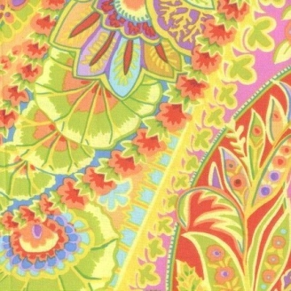 Tissu Kaffe Fassett Paisley Jungle lime GP60