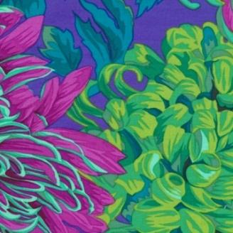 Tissu Philip Jacobs Chrysanthèmes pj41 vert