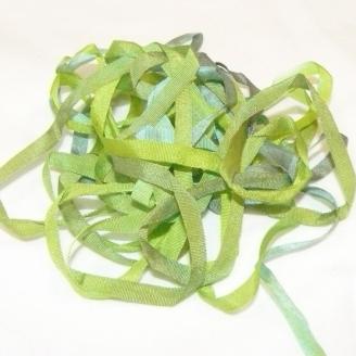 Ruban de soie S.Francis vert dégradé 4mm