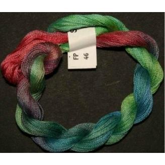 Coton perlé fin de Stef Francis vert rouge 46