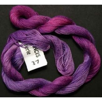 Coton perlé fin de Stef Francis violet fushia 37