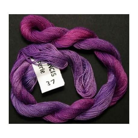 Coton perlé fin de Stef Francis fuchsia violet 37