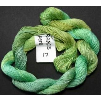 Coton perlé fin de Stef Francis vert 17