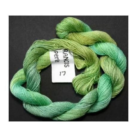 Coton perlé fin de Stef Francis vert dégradé 17