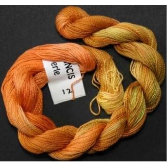 Coton perlé fin de Stef Francis jaune orange vert 12