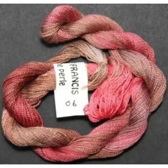 Coton perlé fin de Stef Francis rouge dégradé 06