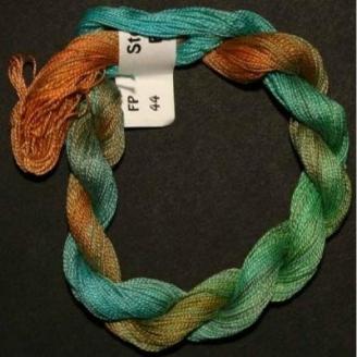 Coton perlé fin de Stef Francis vert orange turquoise 44