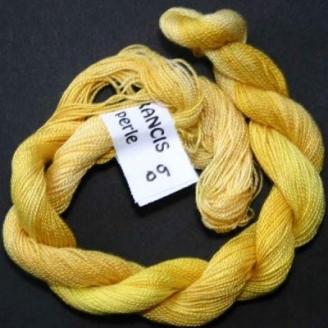 Coton perlé fin de Stef Francis jaune 09