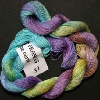 Coton perlé fin de Stef Francis jaune violet turquoise 31